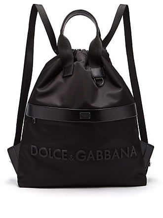 4d2a0e25037c Dolce   Gabbana Rubberised 3d Logo Nylon Backpack - Mens - Black