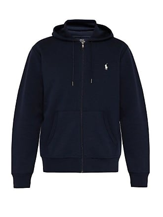 Polo Ralph Lauren Logo Embroidered Hooded Sweatshirt - Mens - Navy