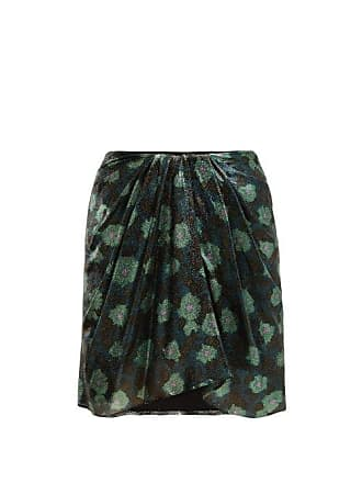 Isabel Marant Paris Silk Blend Mini Skirt - Womens - Green
