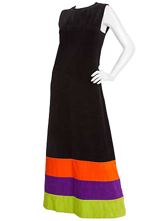 9f3977fc63e Pierre Cardin 1970s Pierre Cardin Terry Cloth Maxi Dress W multicolored  Stripes At Hem