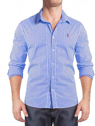 Sergio K. Camisa Xadrez Vichy Stretch Azul