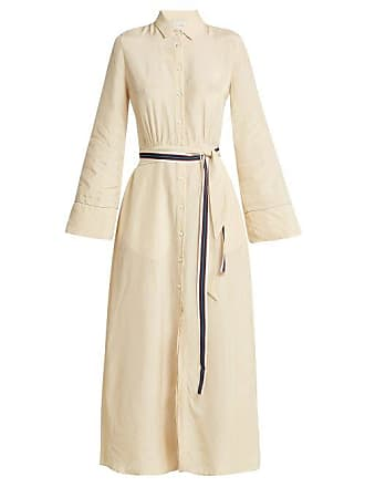On The Island On The Island - Self Tie Shirtdress - Womens - Cream