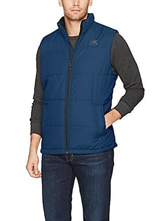 ZeroXposur Mens Block-Quilted Puffer Vest, Navy Denim, Large