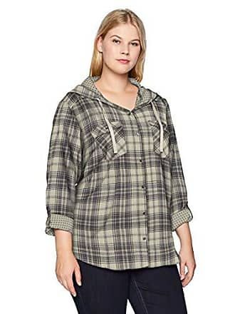 01f1e451e51 Columbia Womens Times Two Plus Size Hooded Long Sleeve, Light Bisque Plaid,  2X