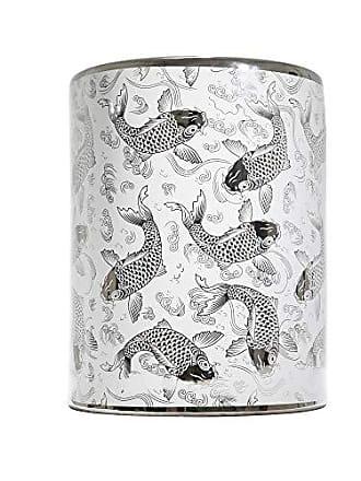 Sagebrook Home 12060-05 Koi Fish Design Garden Stool, 13.25 x 13.25 x 17.25 Inches, Silver/White