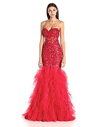 Jovani Womens Red Sweetheart Tiered Prom Dress, 12