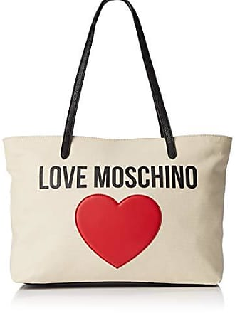 aa38ddaa44 Love Moschino Borsa Canvas E Pebble Pu, Mano Donna, (Nero), 12x29x41