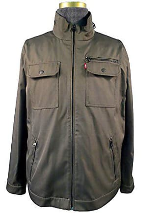 Levi's Mens Synthetic / 2 Chest Pocket Military Jacket, Olive, X-Large