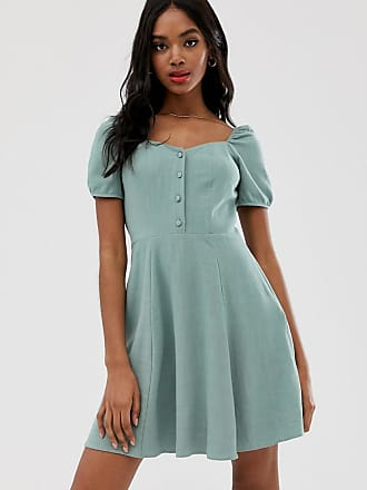 New Look prarie dress in powder mint - Green