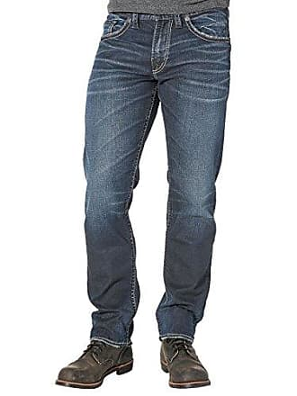 5990edde Silver Jeans Co Mens Big and Tall Eddie Relaxed Fit Tapered Leg Jeans, Dark  Vintage