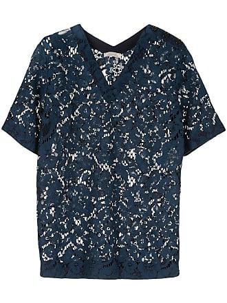 Nina Ricci Camiseta de renda com efeito translúcido - Azul