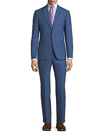 Neiman Marcus Modern-Fit Two-Piece Suit, Blue