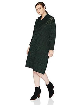 e0fbe0ef60d Sandra Darren Womens 1 PC Plus Size Long Sleeve A Line Cowl Neck Sweater  Dress