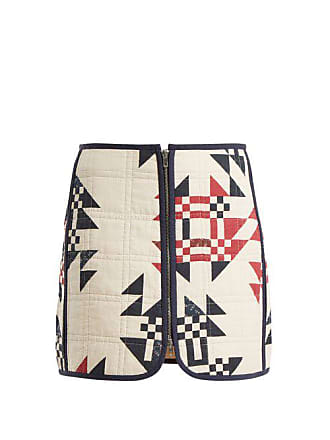 Isabel Marant Lickly Geometric Print Mini Skirt - Womens - Cream Print