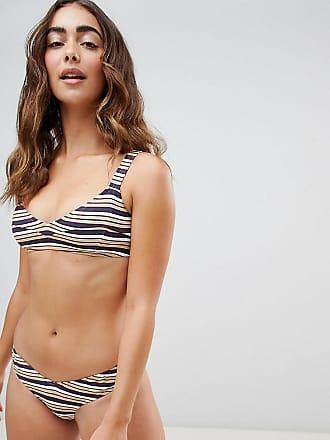 Zulu & Zephyr Exclusive Stripe Bikini Top-Purple