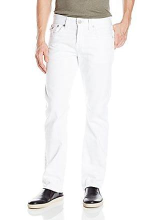 1e0152c8 True Religion Mens Core Ricky W Flap Straight 32, Optic White 31