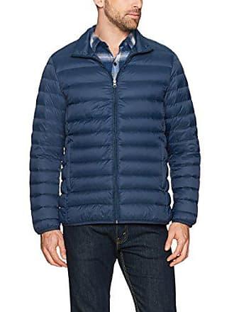 Amazon Essentials Mens Lightweight Water-Resistant Packable Down Jacket, Navy, Large