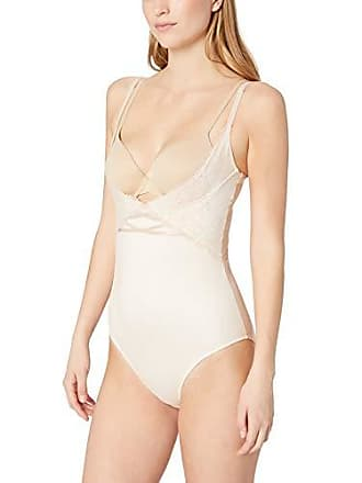 Maidenform Womens Sexy Lace Wear Your Own Bra Romper, Champagne Shimmer/Ivory, X Large