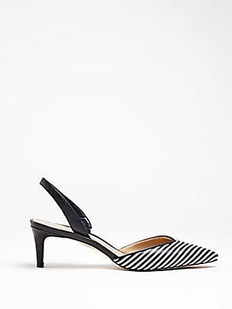 5e60d26751f ANN TAYLOR Elora Striped Leather Slingback Pumps. In high demand