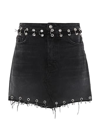 GRLFRND The Milla embellished denim skirt