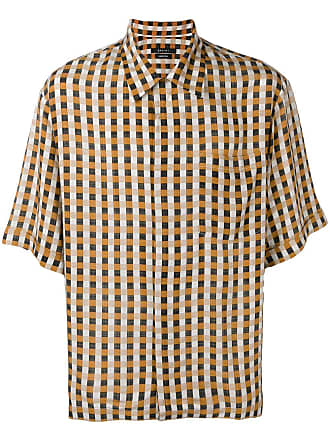 Qasimi check print shirt - Orange
