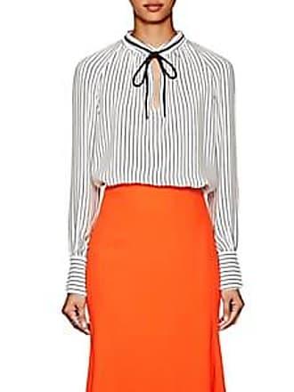068d9cfcaf135 Derek Lam Womens Striped Silk Crepe Blouse - White Navy Size 44 IT