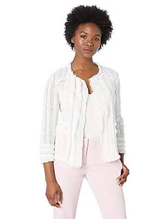 Nic+Zoe Womens Playful Jacket, Paper White, Large