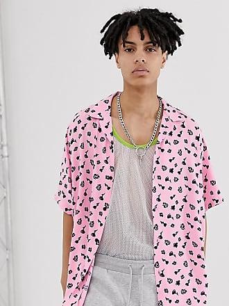 Collusion ditsy floral print shirt-Pink