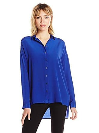Amanda Uprichard Womens Mews Blouse, Ultramarine, M