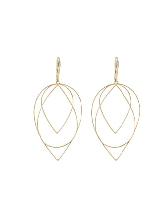Lana Jewelry 14k Medium 3-Tier Pear Hoop Earrings