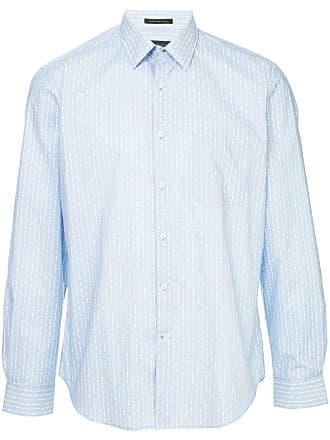 Durban Camisa listrada mangas longas - Azul
