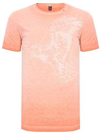 Replay CAMISETA MASCULINA MANGA CURTA EAGLE - LARANJA