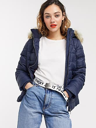 Tommy Jeans hooded quilted jacket-Navy