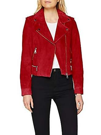 d6af69b78708a Vero Moda Vmroyce Short Suede Jacket Col Noos, Blouson Femme, Rouge Chili  Pepper,