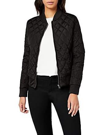 Urban Classics Ladies Diamond Quilt Nylon Jacket, Blouson Femme, Noir-Noir  (7 8bc8e9902078