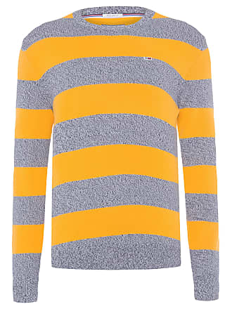 Tommy Jeans SWEATER MASCULINO RUGBY STRIPE - AMARELO