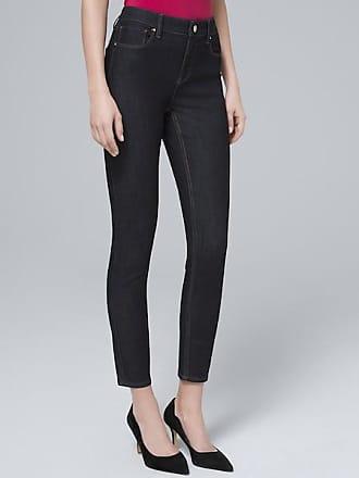 White House Black Market Womens High-Rise Sculpt Fit Skinny Crop Jeans by White House Black Market, Dark Wash, Size 00 - Regular