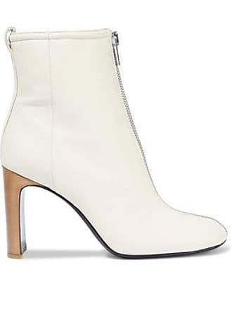 Rag & Bone Rag & Bone Woman Ellis Leather Ankle Boots Ivory Size 36