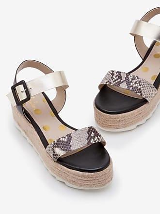 Boden Lena Platform Sandals Snake, Gold and Black Women Boden