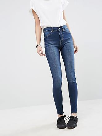 cc239d83427a Cheap Monday Extra tajta skinny jeans med hög midja i ekologisk bomull -  Dovt blå
