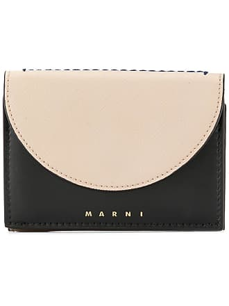 Marni curved flap wallet - Neutrals