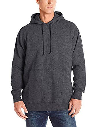 Russell Athletic Mens Big & Tall Fleece Pull-Over Hoodie, Charcoal, X-Large