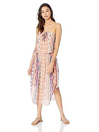 Ramy Brook Womens LISANNE Dress, Santorini Print/Orange Combo, Small