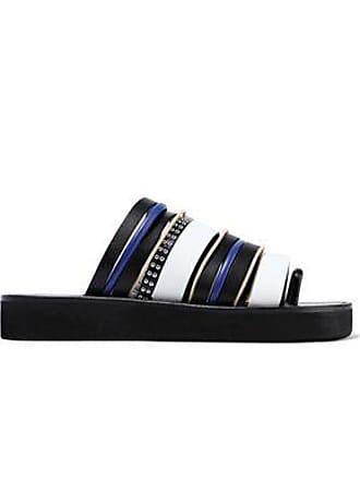 b3ddab81b11 3.1 Phillip Lim 3.1 Phillip Lim Woman Studded Leather And Suede Slides  Black Size 38