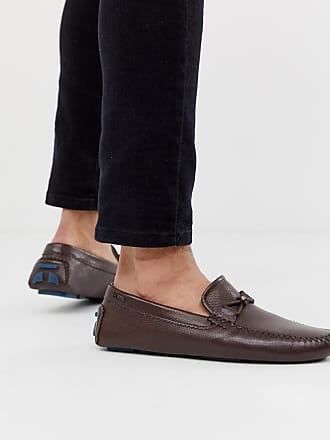 Ted Baker Conari loafers in brown leather - Brown