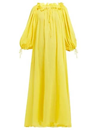 0956308d5c3 Three Graces London Almost A Honeymoon Crinkle Cotton Dress - Womens -  Yellow