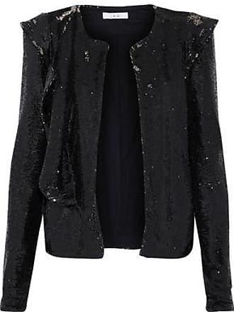 Iro Iro Woman Waklyn Sequined Woven Jacket Black Size 34