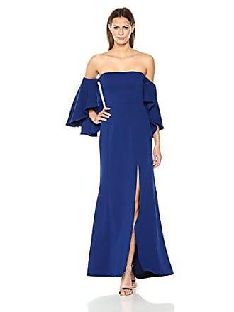 Bcbgmaxazria BCBGMax Azria Womens Simone Woven Off The Shoulder Dress with Slits, deep Royal Blue 4