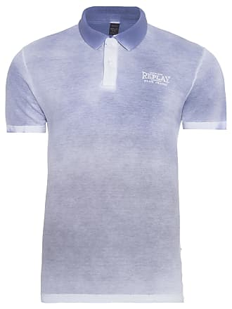Replay POLO MASCULINA CIRCULAR - AZUL