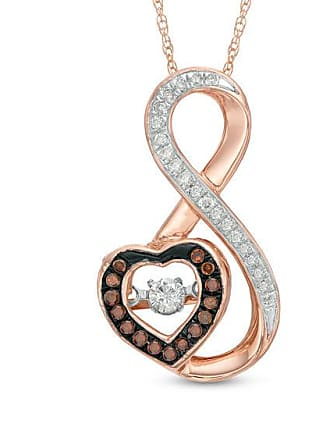 9d4832ff8d3 Zales Unstoppable Love 1 4 CT. T.w. Enhanced Cognac and White Diamond  Infinity with